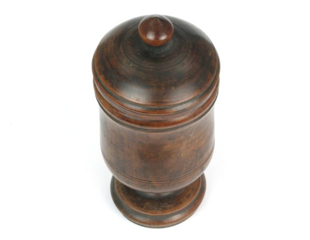 18th Century Apothecary Fruitwood Jar