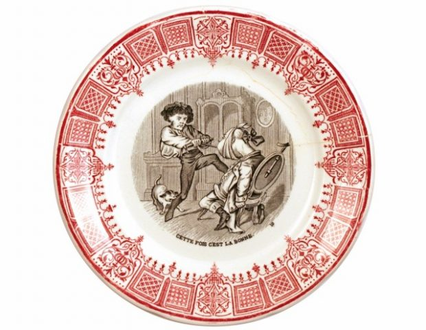 French Plates with Dental Illustrations 19th Century