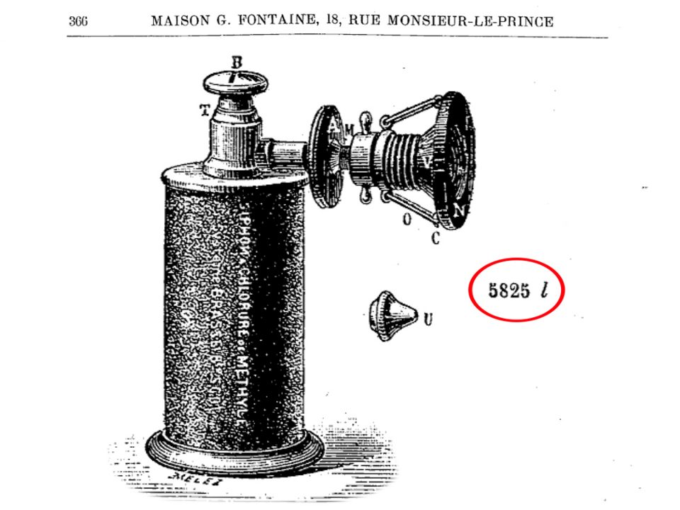 Catalogue entry for Antique French Methyl Chloride Syphon